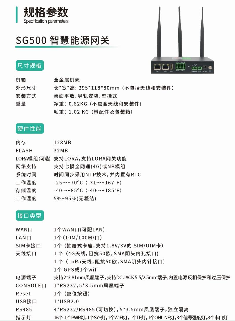 SG500采集网关