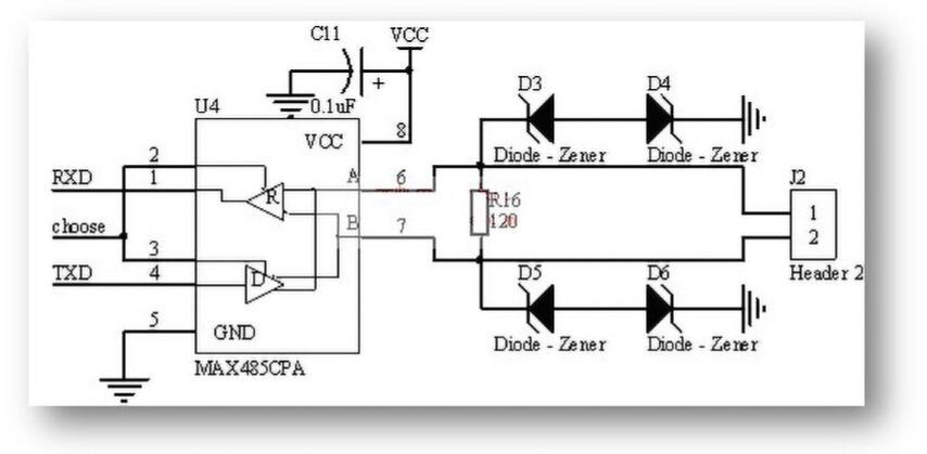 RS485电路及隔离技术:光电隔离RS485典型电路